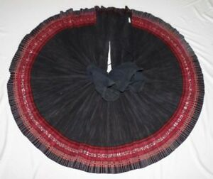Big Heavy Tribal Chinese Miao People S Old Local Cloth Hand Embroidery Skirt