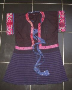 Chinese Minority People S Child Old Embroidery Costume Skirt