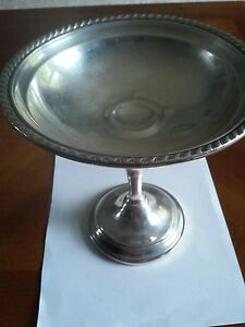Vintage Gorham Sterling Silver Weighted 6 Compote