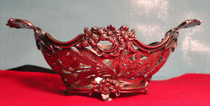 Antique Old Silver Candy Nut Dish English Import Marks Sterling Footed