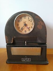 Vintage Simplex Time Recorder Co Time Clock Working Condition