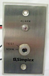 Simplex 4098 9834 Remote Test Station With Key part No 0621158