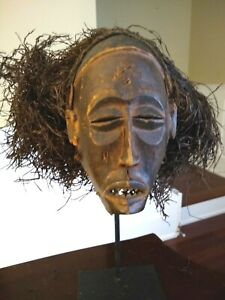 Antique African Chokwe Mask Angola Early 20th Century