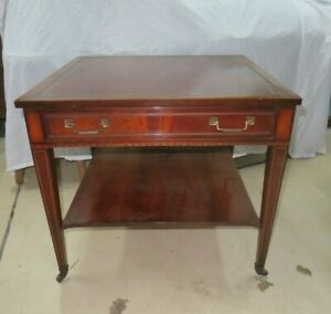 Vintage Mahogany End Table Side Table With Drawer