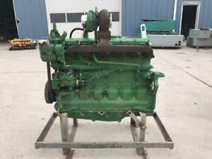 120 Hp John Deere Engine Running Takeout Of Jd 7400 Farm Tractor