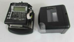 Simplex 100 Electronic Time Clock Recorder Date Stamp 1603 9101 Tested