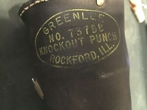 Greenlee 737bb Knockout Punch Set 1 1 2 And 2 Punches Leather Case Usa Nice