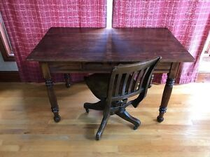 Beautiful Antique Oak One Drawer Library Table Excellent Condition