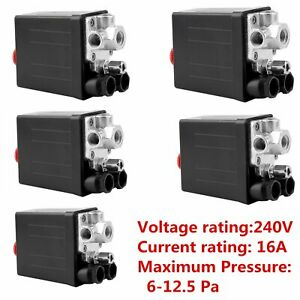 1 2 3 5pcs Heavy Duty Air Compressor Pressure Switch Control Valve 90 120psi N1