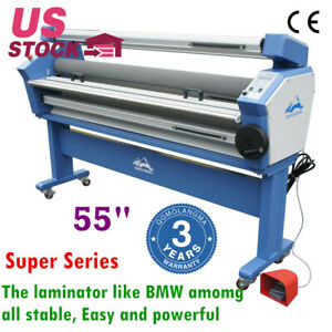 Qomolangma 55 Full auto Wide Format Cold Laminator Machine With Heat Assisted