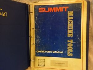 Summit Machine Tools Operators Manual For 19 4 Super 20 Lathe