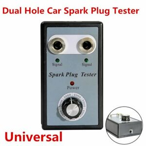 Car Spark Plug Tester Analyze Tool With Adjustable Dual Hole Ignition Detector M