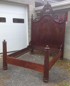 Early Empire Mahogany Bed