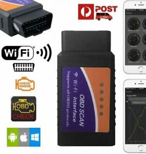 Wifi Bluetooth Obd2 Obdii Car Diagnostic Scan Tool Scanner For Iphone Android A