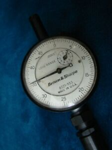 Vintage Brown Sharpe Dial Jewerled Indicator 0005 Usa Rare 8221 553