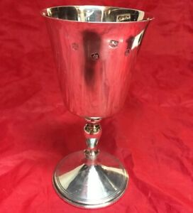 English Solid Sterling Silver Howard Francis Goblet Chalice Cup Heavy Sheffield