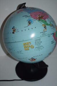 Vintage World Scan Globe Disney Mickey S World Tour Night Light Desk Light