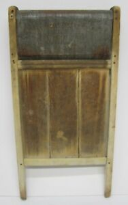 Vtg Antique National Washboard Co December 21 1897 Wood Metal Laundry Rustic