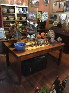 Antique Large Mission Oak Librarey Table