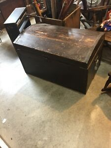 Antique Woodne Immigrant Trunk