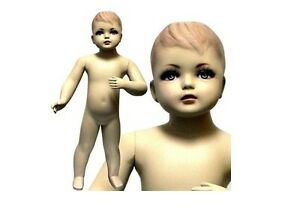 Mn 034 Standing Baby Toddler Fleshtone Mannequin With Realistic Face 30 5 Tall