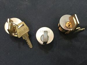 Schlage Mortise Cylinders W Keys Thumbturn Brass Finish Set Of 3 locksmith