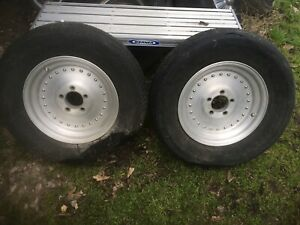 Vintage Centerline Center Line Aluminum Auto Drag 15x3 1 2 Wheels Hot Rod Nhra