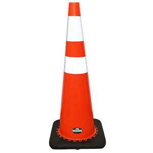 set Of 4 Rk 28 Orange Safety Traffic Pvc Cones With 6 4 Reflective Collar