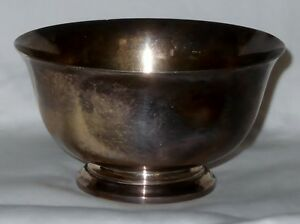 Sterling 925 Silver Worden Munnis 387 Paul Revere Reproduction Bowl 92 Grams