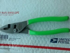 Snap On Green Handle Pliers 47acfg Combo Slip Joint Plier New Unused