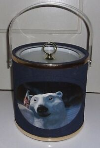 Coca Cola Ice Bucket 8in. X 8in. Made in the USA