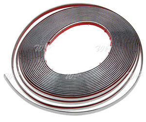 Chrome Styling Moulding Trim Strip 12mm X 49ft For Cars Vehicles