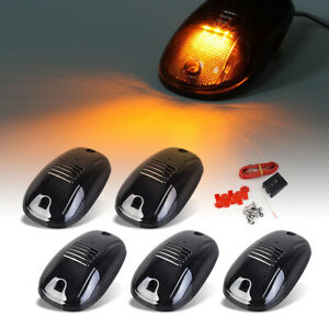 5x Clearence Amber Led Cab Roof Top Marker Lights For 03 16 Dodge Ram1500 5500