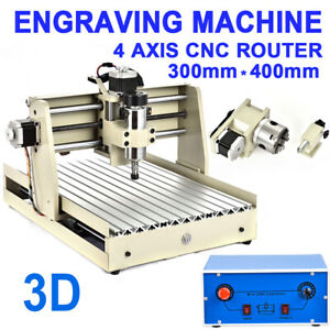 3040 4axis 400w Cnc Router Engraver Engraving Machine Carving 3d Cutter Wood