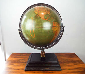 Antique 1920 Large Tabletop Globe 18 Terrestrial Globe Kittinger Co Buffalo Ny
