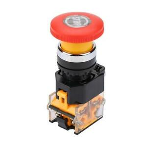 2 Pcs Cnc Red Rotary Emergency Stop Mushroom Pushbutton Switch Free Shipping 2
