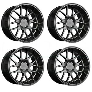 4 New 19 Xxr 530d Wheels 19x9 19x10 5 5x114 3 20 20 Chromium Black Staggered Ri