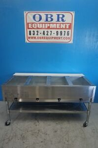 Eagle Group Natural Gas Steam Table Four Open Wells Pan Model Sht4 ng A