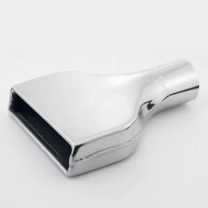 2 5 Inlet Flat Rectangle Angled Exhaust Tip Camaro Style 304 Stainless Steel