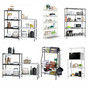 Heavy Duty 3 5 6 7 Tier Metal Wire Shelving Rack Organizer Kitchen Storage Shelf