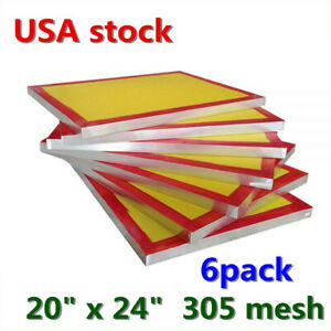 6pack 20 X 24 Aluminum Silk Screen Printing Frame Screens With 305 Mesh Count