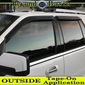 1997 2017 Ford Expedition Smoke Door Vent Window Visors Side Shade Rain Guards