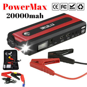 20000mah Led 2 Usb Car Jump Starter Pack Booster Charger Battery Power Bank 600a