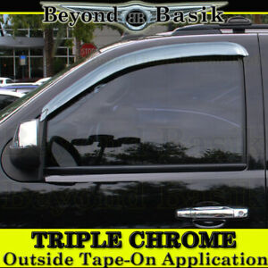 2007 2013 Chevy Silverado 2pc Front Only Chrome Door Vent Visors Side Rain Guard