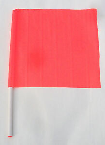 Flag Caution Safety Construction Traffic Boat Skier Down 18 X 18 27 Handle