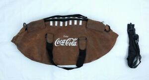 Coca Cola Logo Football shaped Tote Bag w detachable Shoulder Strap Tail Gate