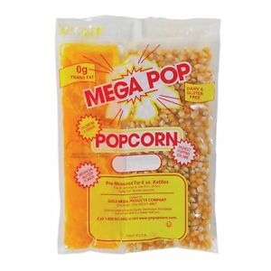 Gold Medal Mega Pop Popcorn Kit 6 Oz Kit 36 Ct Eliminates Costly Waste Theater