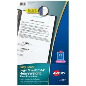 Legal Size Heavyweight Sheet Protectors 8 1 2 X 14 25 Count
