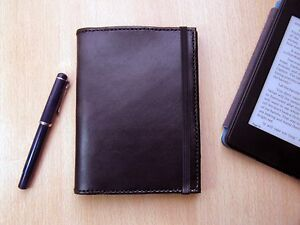 Black A6 Leather Notebook Planner Journal Travel Notebook Cover
