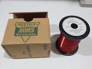 Mws 945997 2940 40 Awg Tpn Red Enameled Copper Magnet Wire 1 4 lbs